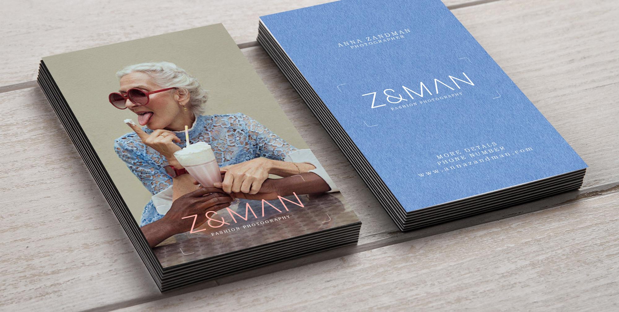ZANDMAN FASHION PHOTOGRAPHY BUSINESS CARDS